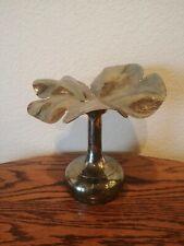 Vintage Plata Lappas Argentina Flower Silverplate Candle Holder