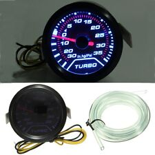 Universal 52mm 2″ LED Car Turbo Boost Pressure Gauge Meter Smoked Dials Psi 12v