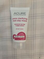 New / Sealed Acure Pore Clarifying Red Clay Mask, Travel Size 30ml / 1oz