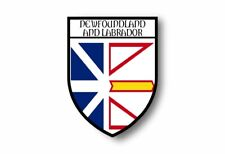 Stickers decal souvenir vinyl car shield flag canada newfoundland and labrador