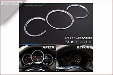 CHROME DASHBOARD DASH GAUGE RINGS DIAL CLUSTER FOR PORSCHE MACAN S TURBO