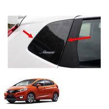 Exterior Rear Door Pillar Post Kevlar Black 2Pc Fit Honda Jazz Fit GK5 2014 - 17