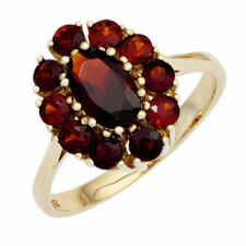Ringe mit Edelsteinen aus Gelbgold echten Unbehandelte Granate