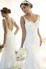 Sexy White/Ivory Lace Wedding Dress Bridal Gown Custom Size 6 8 10 12 14 16++++