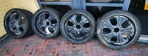 RANGE ROVER BMW 4x4 SUV  6 STUD 22''INCH ALLOY WHEELS WITH TYRES 285/35/R22