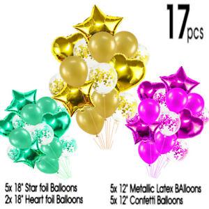 17pcs Set Happy Birthday Latex & Foil Balloons Sets Baby Boys Girls Kids Party