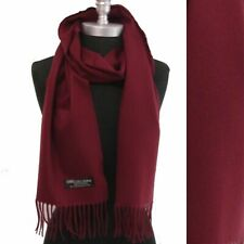CASHMERE SCARF WRAP MADE IN SCOTLAND SOLID Wine Wool Wrap⭐️⭐️⭐️⭐️⭐️(30)