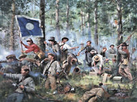 """""""Cleburne at Chickamauga, 2nd Tennessee Regiment"""" Don Troiani Civil War Print"""