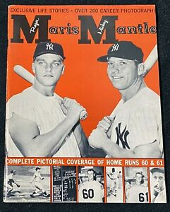 1962 ROGER MARIS MICKEY MANTLE 200 + PHOTOGRAPHS PICTORIAL COVERAGE MAGAZINE !