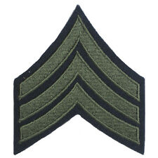 American Army Rank SERGEANT Badge WW2 Repro Olive Sleeve Stripes Arm Patch US
