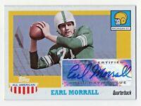 2005 Topps All American Autograph Earl Morrall Michigan State Quarterback RIP