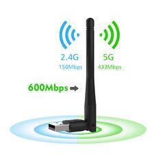 Wavlink Adaptador inalámbrico de banda dual USB Wifi Dongle y antena externa
