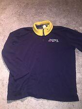Vintage 90's Nautica Competition Spellout Zip up Sweatshirt 1/2 zip pullover M