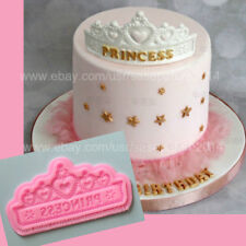 "Princess tiara crown silicone mold 7"" for fondant, chocolate, resin clay. Corona"