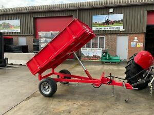 WTL15 - Winton Tipping Trailer 1.5tn Capacity For Compact Tractors - Yard Stored