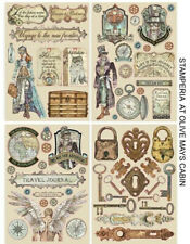 Stamperia Lady Vagabond Coloured Wooden Shapes - Steampunk