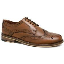 d3ac12622fd NEW MENS REAL LEATHER CASUAL FORMAL BROGUE OXFORD OFFICE WING TIP WEDDING  SHOES