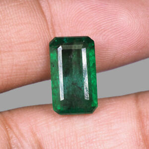 5.52 Cts Certified Natural Emerald Zambia Rich Green Deluxe High End Gemstone