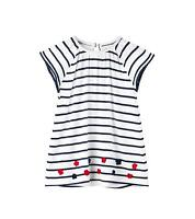 Hatley Baby Girls Mini Flutter Sleeve Dress, Solstice Stripe, 3-6 Mos