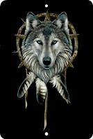 Dream catcher, Wolf, Home Sign, Home Decor Metal Aluminum, USA, Black