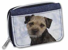 Border Terrier Dog Girls/Ladies Denim Purse Wallet Christmas Gift Idea, AD-BT3JW