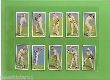 SET OF FIFTY 1930 CRICKET CIGARETTE CARDS - CRICKETERS 1930, WITH BRADMAN