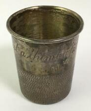 Sterling Silver Cup, Just A Thimble Full Lot 2292