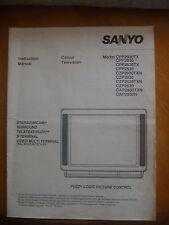 SANYO  TELEVISION INSTRUCTION MANUAL.. VARIOUS MODELS..FUZZY LOGIC..TELETEXT