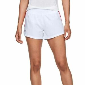 Under Armour UA HeatGear Ladies Launch Sw Go All Day White Running Shorts S