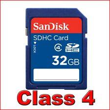 ~32GB SanDisk Retail Class 4 32 G GB SD HC Secure Digital Memory Card