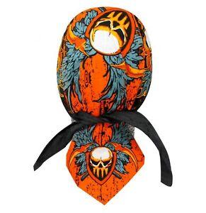 Old Warrior Bandanna Biker Head wrap Skull cap  Capsmith Du rag