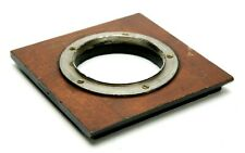 """Deardorff Wooden Lens Board 4x4"""" (101x101mm) With Built-In Retaining Ring 55,8mm"""
