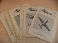 19 X THE AEROPLANE SPOTTER  OLD VINTAGE ww2 MAGAZINE 1940S RAF AIRCRAFT 47 - 48