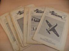 19 X THE AEROPLANE SPOTTER  OLD VINTAGE ww2 MAGAZINE 1940S RAF AIRCRAFT 47 - 48