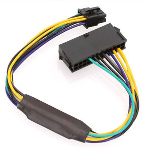 0.3m ATX PSU Power Adapter 24 Pin to 8 Pin Cable Compatible with DELL Optiplex