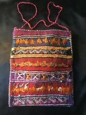 Vintage Authentic Hippie Woven Wool Shoulder Bag - Work or Travel - iPad bag