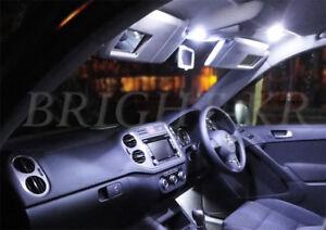 FOR VW VOLKSWAGEN PASSAT B7 2010+ INTERIOR XENON WHITE UPGRADE LED LIGHT BULBS
