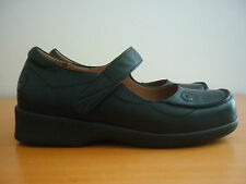 "WOMEN'S PURE COMFORT ""KATIE"" ORTHOTIC BLACK LEATHER MARY JANE SHOES - SIZE 6"