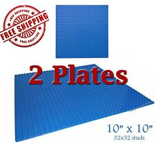 For LEGO, 2 Blue 10x10-inch 32x32-stud Brick Building Base Plates * NEW *