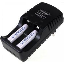 Powery Ladegerät für NiMH/NiCd AA-AAA Akkus inkl. 2x AAA 750mAh Panasonic enel