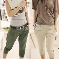Women Casual Cropped Capris Harem Trousers Pants Spring Summer Fashion Pants New