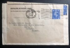 1948 Bradford England War Economy Label Commercial Cover To Galt Canada