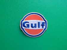 MOTOR RACING OILS, FUELS & TYRES SEW ON / IRON ON PATCH:- GULF (a) PETROL