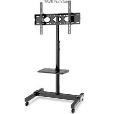 Mobile TV Stand with Removable Shelf for 32-70 Inch LCD LED TVs