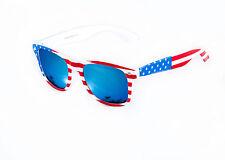 USA Stars & Stripes American wayfare occhiali da sole lente a specchio blu uomo donna