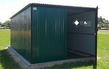 Mehrzweck Schuppe Blechgarage Garage Fertiggarage Metallgarage 3x5 in RAL6032