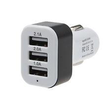 Universal 12V 24V To 5V 3Port USB Car Charger Charge Adapter For Smart phone GPS