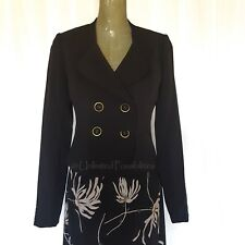 NEW REVIEW AUSTRALIA Clarabelle Jacket 15JK036 Black Size 10 with Tags