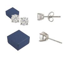 Diamonique 100-Facet 2.00 cttw Stud Earrings, Platinum Clad QVC $40.00