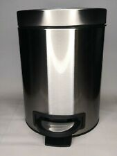 Better Homes & Gardens Stainless Steel Mini Round Step Trash Garbage Can